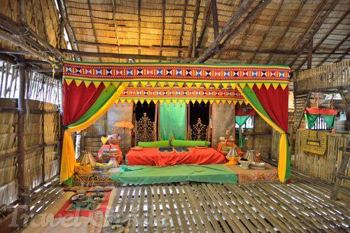 バジャウ族の家の内部