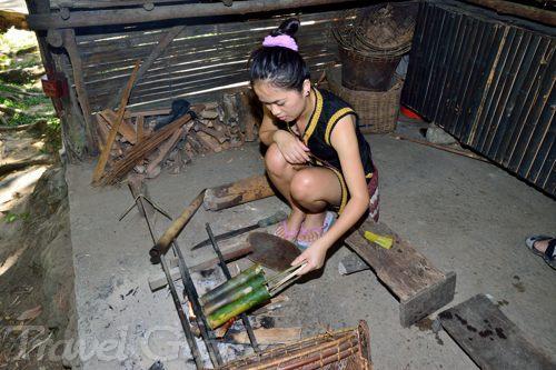 竹筒料理体験